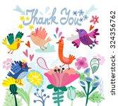 lovely illustration of flowers... | Shutterstock .eps vector #324356762