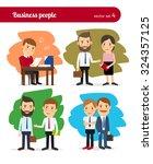 cartoon business people.... | Shutterstock .eps vector #324357125