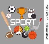 sport concept icon design ... | Shutterstock .eps vector #324357152