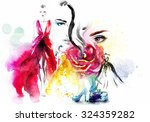 fashion  beauty  collage. art... | Shutterstock . vector #324359282