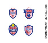 vector logo for a tennis... | Shutterstock .eps vector #324363308
