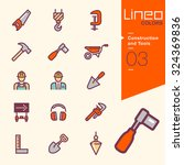lineo colors   construction and ... | Shutterstock .eps vector #324369836