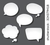 abstract white paper speech... | Shutterstock .eps vector #324379418