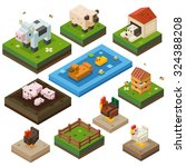 cute farm animals  sheep ... | Shutterstock .eps vector #324388208