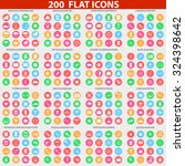 web icons set of 200 perfect... | Shutterstock .eps vector #324398642