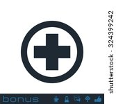 medical cross icon | Shutterstock . vector #324399242
