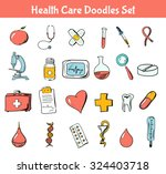 medical flat vector icons set.... | Shutterstock .eps vector #324403718