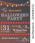 elegant halloween invitation... | Shutterstock .eps vector #324408152