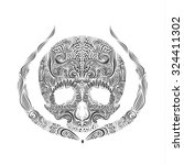 vector black and white tattoo... | Shutterstock .eps vector #324411302