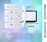 infographic design with... | Shutterstock .eps vector #324423386