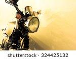 vintage motorcycle detail ...