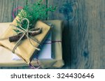 Christmas Presents In Rustic...