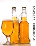 beer in a glass and in a bottle | Shutterstock . vector #32443408
