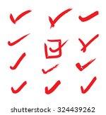 check mark icons | Shutterstock .eps vector #324439262