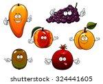 Cartoon Ripe Purple Grape ...