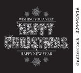 christmas message with happy... | Shutterstock .eps vector #324442916