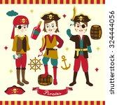 pirate boys vector design