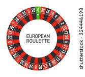european roulette wheel. vector. | Shutterstock .eps vector #324446198