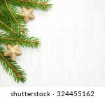 christmas tree with stars on a... | Shutterstock . vector #324455162
