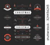 christmas labels and badges... | Shutterstock .eps vector #324456245