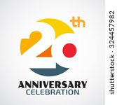 template logo 20th anniversary... | Shutterstock .eps vector #324457982