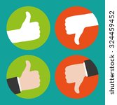 thumbs up and thumbs down   Shutterstock .eps vector #324459452