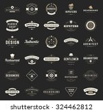 Retro Vintage Logotypes or insignias set. Vector design elements, business signs, logos, identity, labels, badges, apparel, shirts, ribbons, stickers and other branding objects. | Shutterstock vector #324462812