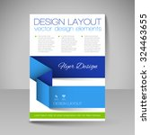 business brochure. editable a4... | Shutterstock .eps vector #324463655