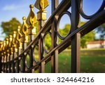 image of a decorative cast iron ... | Shutterstock . vector #324464216