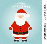 typographic christmas greeting... | Shutterstock .eps vector #324467456