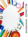 school supplies on white... | Shutterstock . vector #324467738