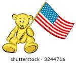 teddy bear with usa flag  ... | Shutterstock .eps vector #3244716