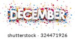 december sign with colour... | Shutterstock .eps vector #324471926