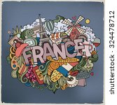 france country hand lettering... | Shutterstock .eps vector #324478712