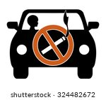 ban smoking in cars with kids.... | Shutterstock . vector #324482672