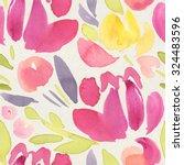 seamless watercolor pattern on... | Shutterstock . vector #324483596