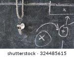 whistle of soccer or football... | Shutterstock . vector #324485615