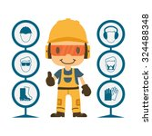 construction worker repairman... | Shutterstock .eps vector #324488348