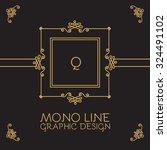 mono line monogram   logo...   Shutterstock .eps vector #324491102