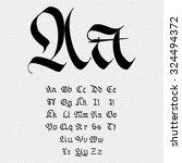 gothic abc set. gothic ... | Shutterstock .eps vector #324494372
