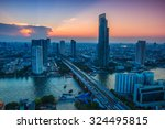 cityscape of bangkok city asia... | Shutterstock . vector #324495815