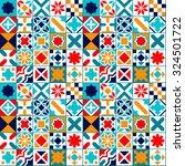 colorful geometric tiles... | Shutterstock .eps vector #324501722
