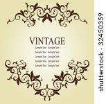 vintage frame design | Shutterstock .eps vector #32450359