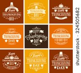 typographic thanksgiving design ... | Shutterstock .eps vector #324505682