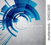 techno vector circle abstract... | Shutterstock .eps vector #324511835
