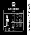 graphic designer wanted... | Shutterstock .eps vector #324514688