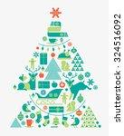 christmas composition in shape... | Shutterstock .eps vector #324516092