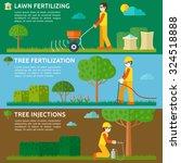 lawn fertilizing. tree...   Shutterstock .eps vector #324518888