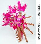 brazilian carnival.group of... | Shutterstock . vector #324523838