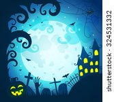 halloween poster and card.... | Shutterstock .eps vector #324531332
